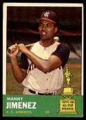 1963 Topps #195 Manny Jimenez VG/EX Very Good/Excellent