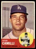 1963 Topps #196 Doug Camilli VG Very Good
