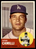 1963 Topps #196 Doug Camilli EX/NM