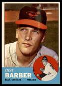 1963 Topps #12 Steve Barber EX Excellent
