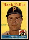 1958 Topps #4 Hank Foiles G Good
