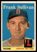 1958 Topps #18 Frank Sullivan VG Very Good