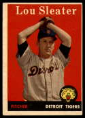 1958 Topps #46 Lou Sleater UER EX Excellent