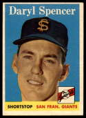 1958 Topps #68 Daryl Spencer EX++ Excellent++