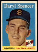 1958 Topps #68 Daryl Spencer EX/NM