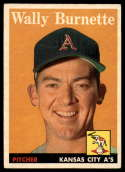 1958 Topps #69 Wally Burnette EX/NM