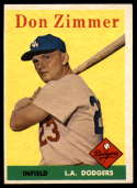 1958 Topps #77 Don Zimmer EX Excellent