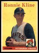 1958 Topps #82 Ron Kline VG/EX Very Good/Excellent