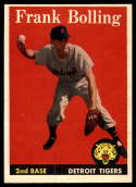 1958 Topps #95 Frank Bolling EX++ Excellent++