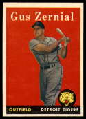 1958 Topps #112 Gus Zernial UER NM Near Mint
