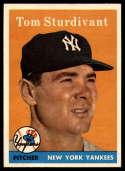 1958 Topps #127 Tom Sturdivant NM Near Mint