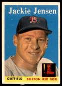 1958 Topps #130 Jackie Jensen UER NM Near Mint