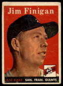 1958 Topps #136 Jim Finigan G Good