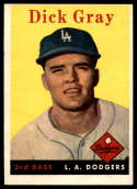 1958 Topps #146 Dick Gray VG/EX Very Good/Excellent RC Rookie