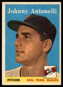 1958 Topps #152 Johnny Antonelli NM Near Mint