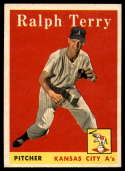 1958 Topps #169 Ralph Terry UER NM Near Mint