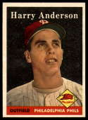 1958 Topps #171 Harry Anderson UER NM Near Mint