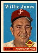1958 Topps #181 Willie Jones EX Excellent