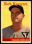 1958 Topps #200 Bob Keegan UER EX Excellent