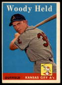 1958 Topps #202 Woodie Held EX Excellent RC Rookie