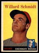 1958 Topps #214 Willard Schmidt EX Excellent