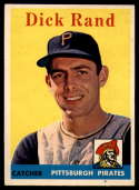 1958 Topps #218 Dick Rand NM Near Mint RC Rookie