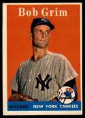 1958 Topps #224 Bob Grim EX/NM