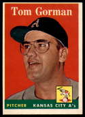 1958 Topps #235 Tom Gorman EX++ Excellent++