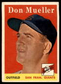 1958 Topps #253 Don Mueller VG/EX Very Good/Excellent