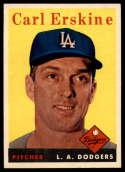 1958 Topps #258 Carl Erskine NM Near Mint