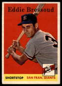 1958 Topps #263 Eddie Bressoud NM Near Mint RC Rookie