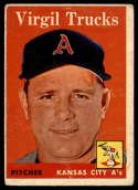1958 Topps #277 Virgil Trucks VG Very Good