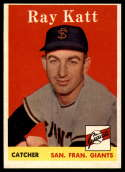 1958 Topps #284 Ray Katt EX++ Excellent++