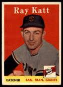 1958 Topps #284 Ray Katt EX/NM