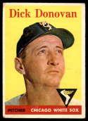 1958 Topps #290 Dick Donovan VG/EX Very Good/Excellent