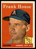 1958 Topps #318 Frank House EX Excellent