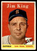 1958 Topps #332 Jim King G Good