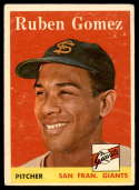 1958 Topps #335 Ruben Gomez VG/EX Very Good/Excellent