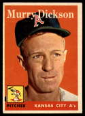 1958 Topps #349 Murry Dickson VG/EX Very Good/Excellent