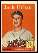 1958 Topps #367 Jack Urban EX++ Excellent++ RC Rookie
