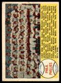 1958 Topps #134 Phillies Team Checklist 89-176 VG Very Good