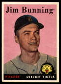 1958 Topps #115 Jim Bunning UER NM Near Mint