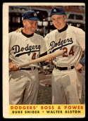1958 Topps #314 Duke Snider/Walt Alston Dodgers' Boss & Power G/VG Good/Very Good