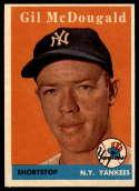 1958 Topps #20 Gil McDougald UER EX/NM