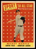 1958 Topps #487 Mickey Mantle AS TP EX/NM