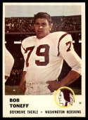 1961 Fleer #116 Bob Toneff NM Near Mint