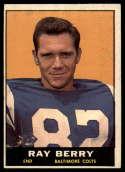 1961 Topps #4 Raymond Berry EX Excellent