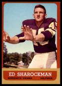 1963 Topps #105 Ed Sharockman NRMT o/c