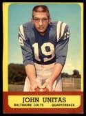 1963 Topps #1 Johnny Unitas EX Excellent