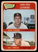 1965 Topps #7 Dean Chance/Joe Horlen AL E.R.A. Leaders G Good